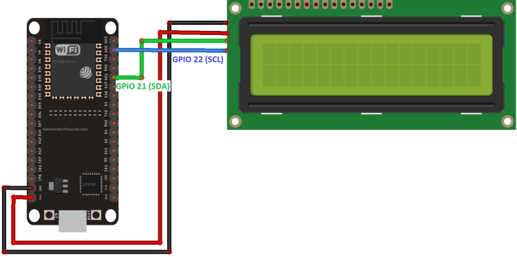 I2c Lcd With Esp32 On Arduino Ide
