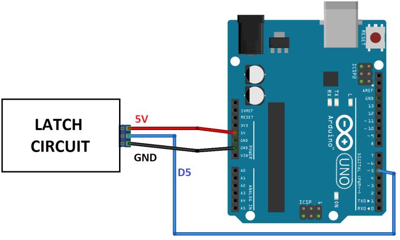 power latch circuit schematics arduino