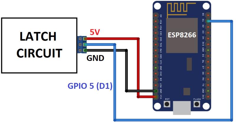 power latch circuit schematics esp8266