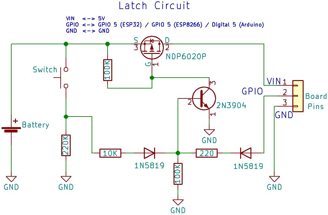 latching power switch circuit (auto power off circuit) random nerd