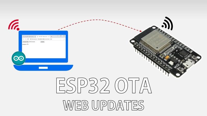ESP32 Over-the-air (OTA) Programming – Web Updater Arduino IDE