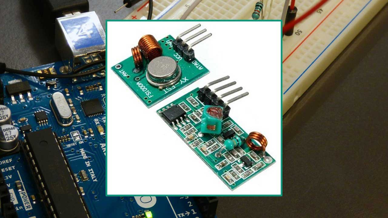 RF 433MHz Transmitter/Receiver Module With Arduino