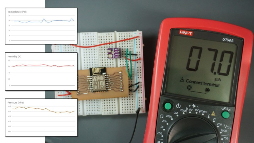 Low Power Weather Station Datalogger using ESP8266 | Random