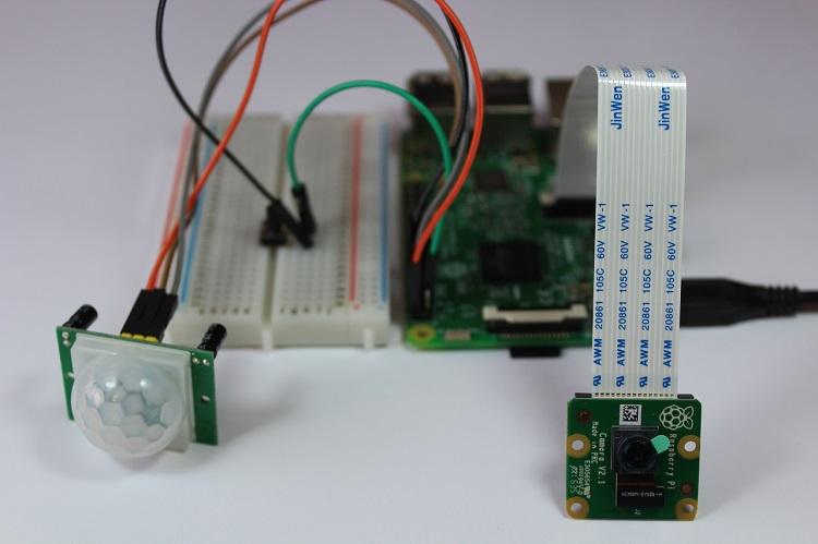 Raspberry Pi Motion Detector with Photo Capture | Random