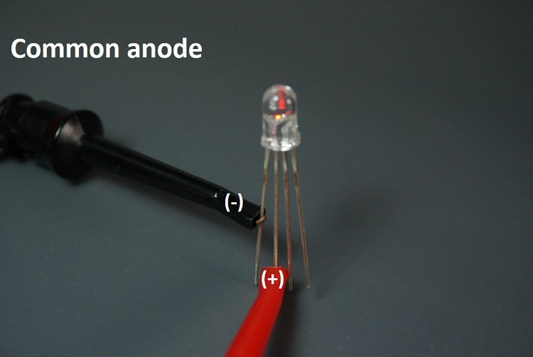 identify common anode rgb led