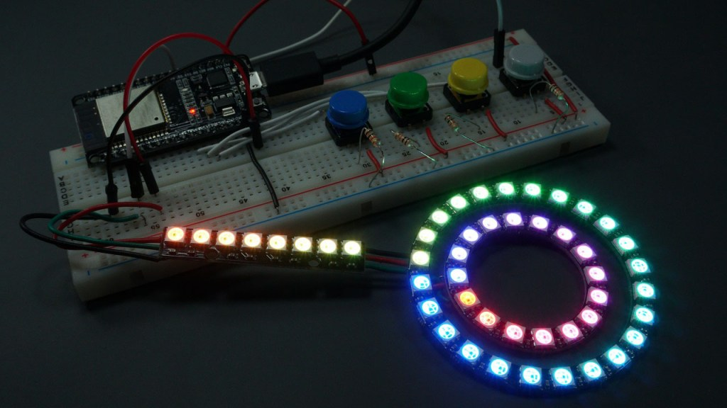 ws2812b addressable rgb led micropython esp32 esp8266
