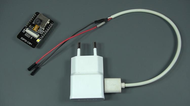 Fake dummy camera with ESP32-CAM AI Thinker Module Inside powering