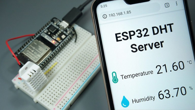 ESP32 DHT11/DHT22 Web Server - Temperature and Humidity using Arduino IDE