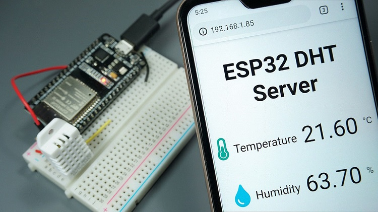 ESP32/ESP8266 DHT11 DHT22 Web Server MicroPython Demonstration
