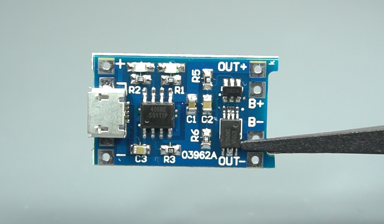 TP4056 lithium battery charger module