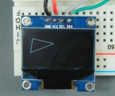 ESP32 ESP8266 Arduino OLED Display Triangle