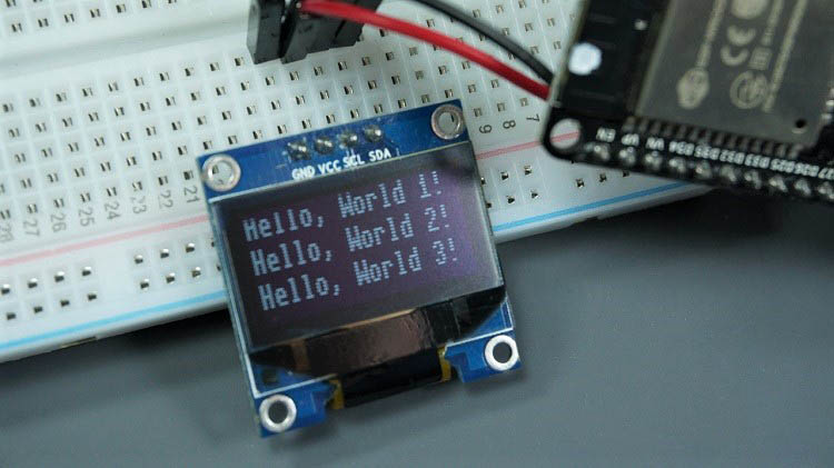 oled display text esp8266 esp32 micropython