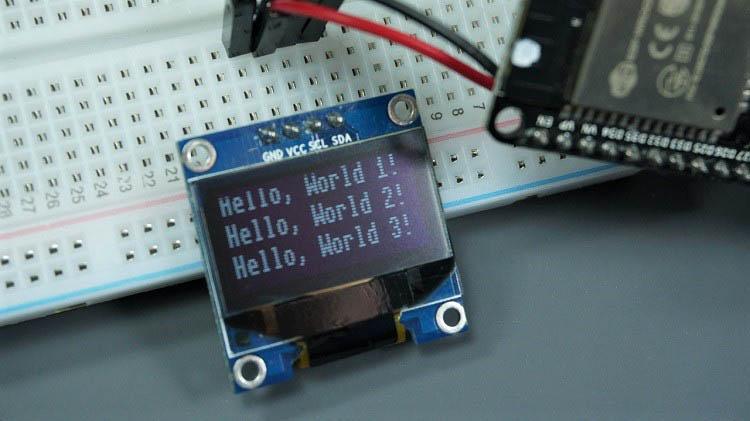 oled display text esp8266 esp32 micropython