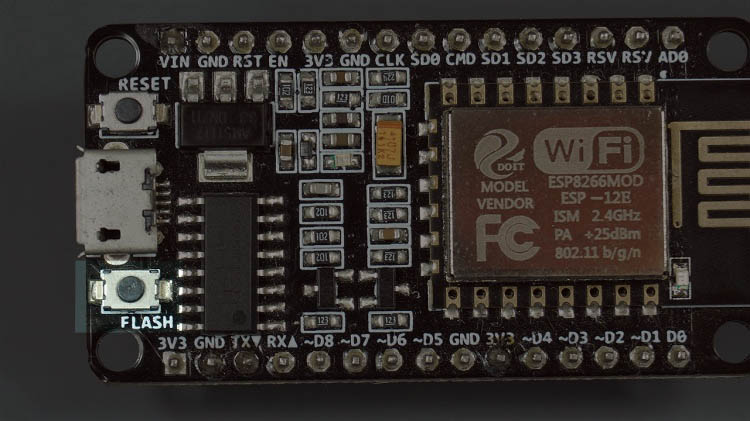 ESP8266 NodeMCU GPIO 0 Flash boot button