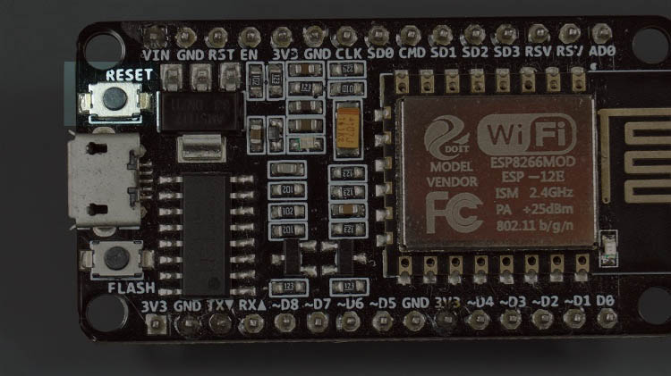 ESP8266 NodeMCU On-board Reset button