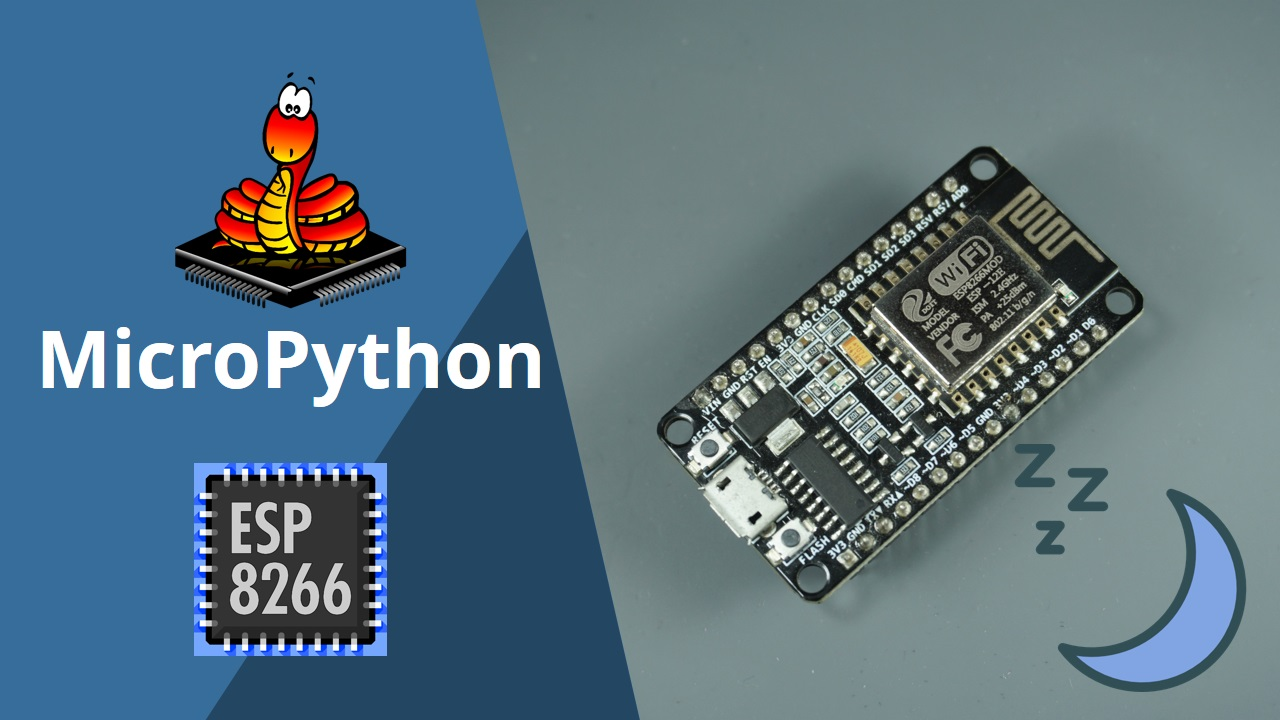 MicroPython: ESP8266 Deep Sleep and Wake Up Sources | Random
