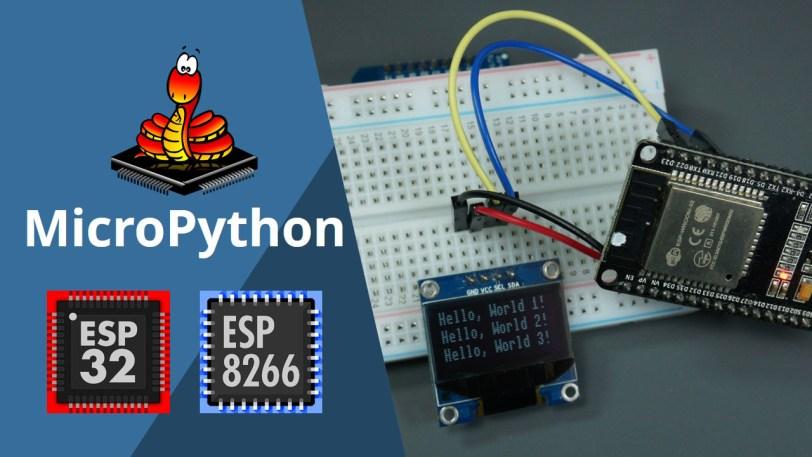MicroPython: OLED Display with ESP32 and ESP8266 | Random Nerd Tutorials