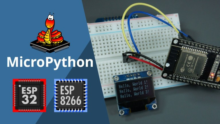 oled display esp8266 esp32 micropython