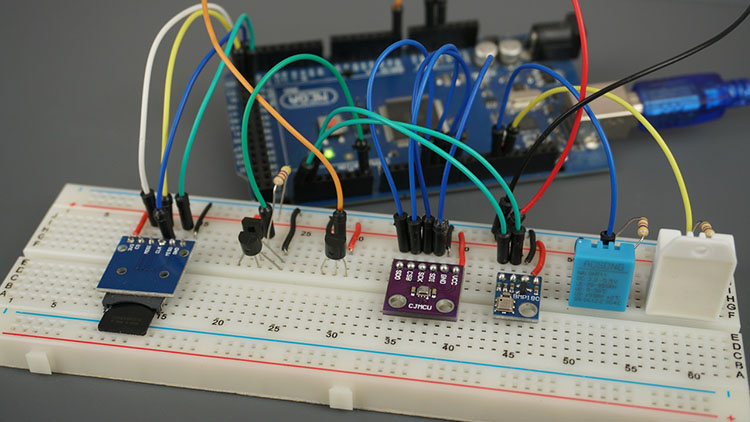 Testing all Temperature Sensors DHT11 DHT22 LM35 DS18B20 BME280 BMP180 with Arduino