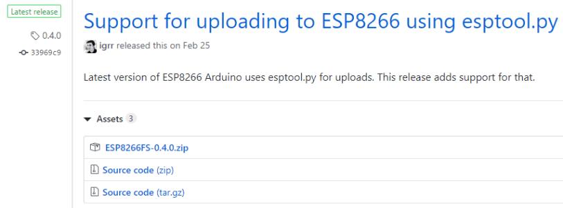 Download ESP8266 SPIFFS Filesystem fs for Arduino IDE