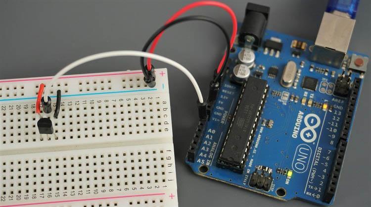 LM35 LM35DZ LM34 LM335 Arduino board OLED wiring schematic