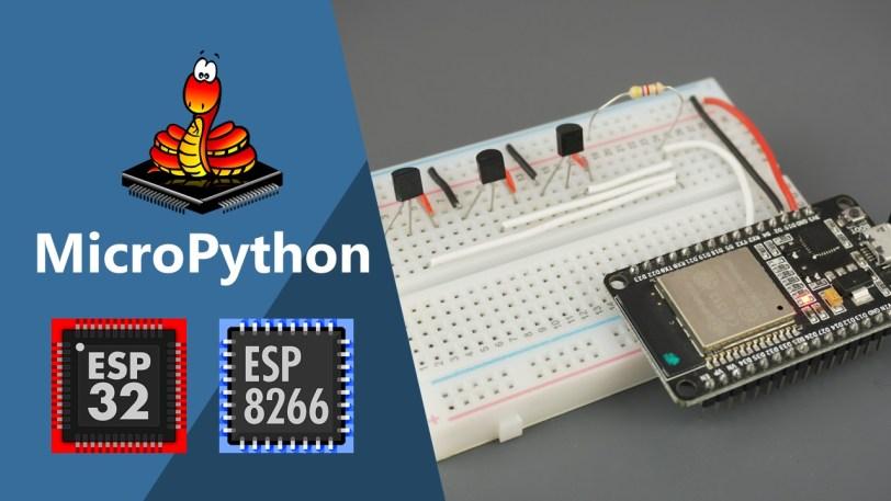MicroPython: DS18B20 Temperature Sensor with ESP32 and
