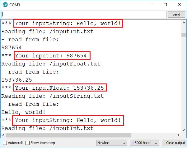 ESP32 ESP8266 Input Fields HTML Form Demonstration Arduino IDE Serial Monitor