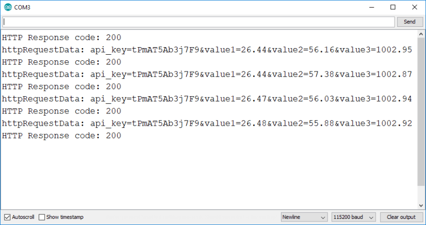 ESP32 ESP8266 BME280 Readings Arduino IDE Serial Monitor