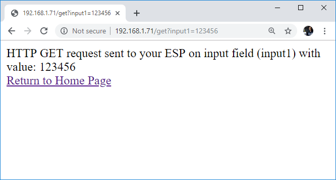 ESP32 ESP8266 HTML Form Input Data HTTP GET Request