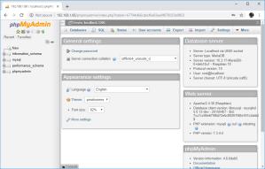 Raspberry Pi phpMyAdmin Local Database MySQL
