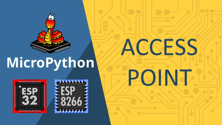 MicroPython: ESP32/ESP8266 Access Point AP