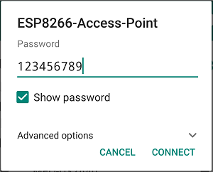 ESP8266 NodeMCU Access Point (AP) Enter Password