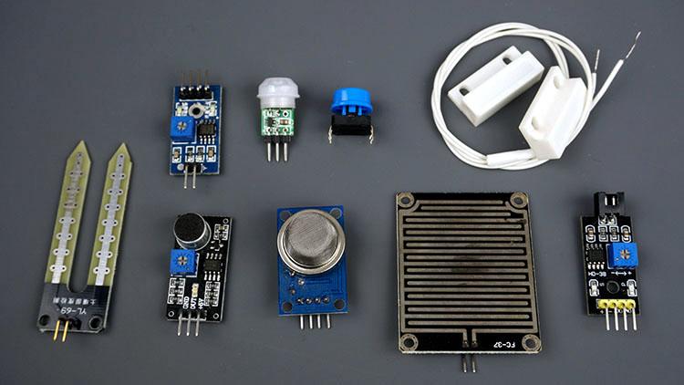 Pushbutton PIR motion sensor magnetic reed switch or digital sensor