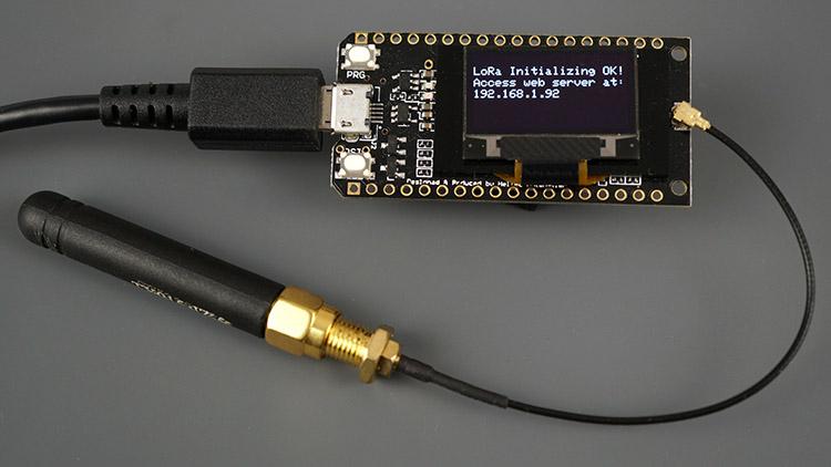 TTGO LoRa32 SX1276 OLED board ESP32 Receiver Circuit Schematic web server