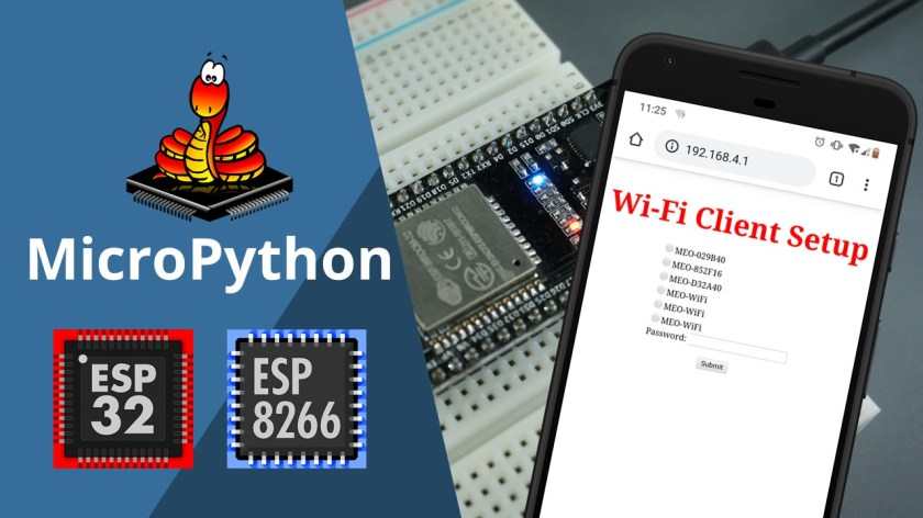 MicroPython: Wi-Fi Manager with ESP32 ESP8266 compatible