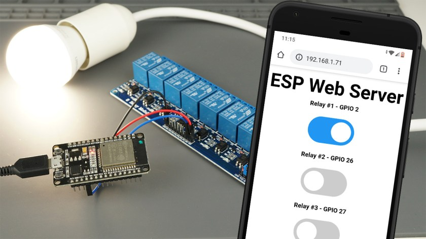 Control a Relay Module with an ESP32 (Web Server)