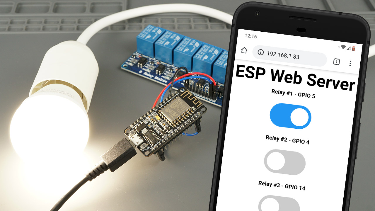 ESP8266 Relay Module - Control AC Appliances Web Server