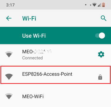 ESP8266 Server Access Point AP Connection