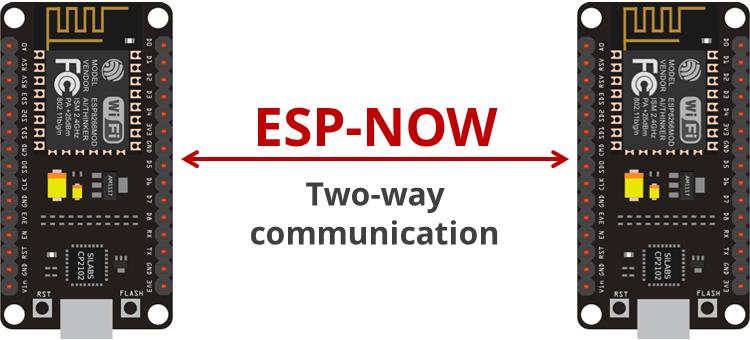 ESP8266 ESP-NOW Two-way Communication