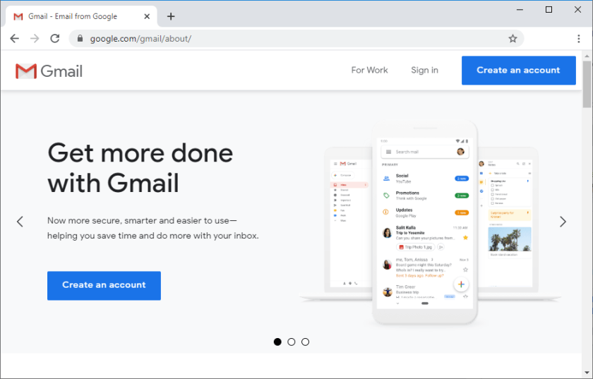 Gmail Create a new account