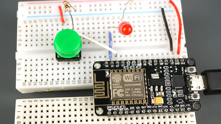 ESP8266 NodeMCU Input Output Button Not Pressed Arduino IDE