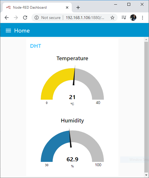 ESP32 MQTT Publish Temperature Humidity Node-RED Dashboard