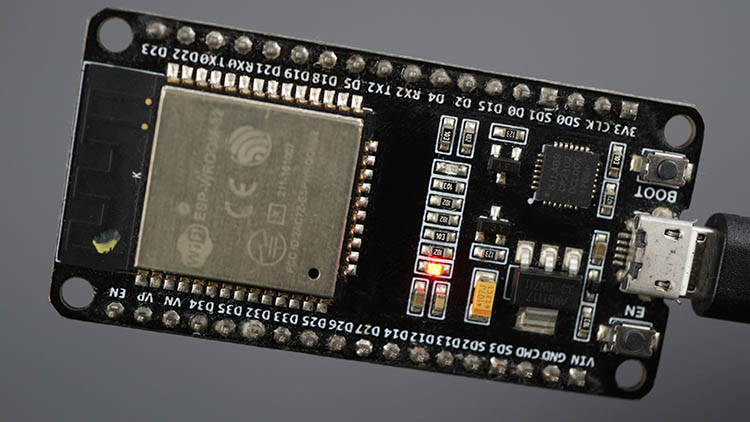 ESP32 board Built in LED turned off LOW