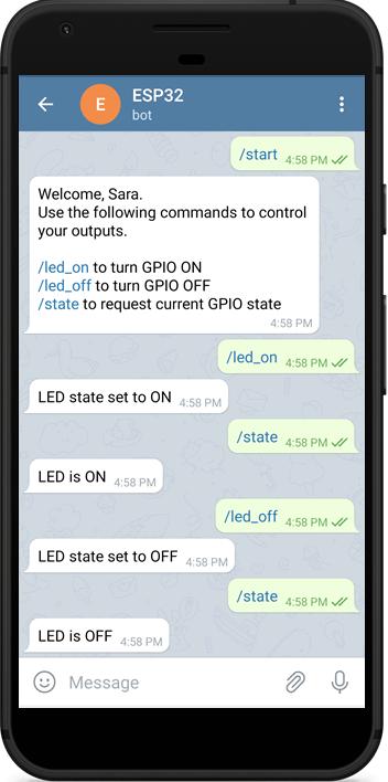 Control ESP32 ESP8266 Outputs Telegram