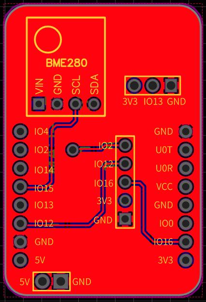 ESP32-CAM PCB Shield Telegram Tale Photo PIR BME280