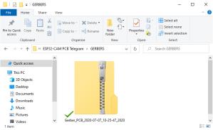 Upload Gerber Files PCB folder