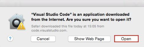 Microsoft Visual Studio Code VS Code Downloading application file for Mac OS X