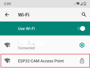 Connect to ESP32-CAM Access Point Smartphone