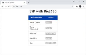 ESP32 ESP8266 MicroPython BME680 Web Server Test Demonstration