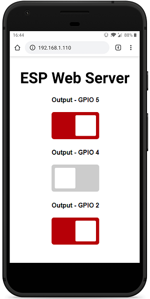 ESP8266 NodeMCU Async Web Server Control Outputs